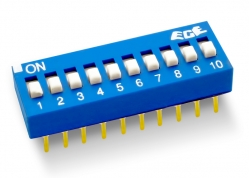 DIP SWITCH 10 LLAVES ALTO