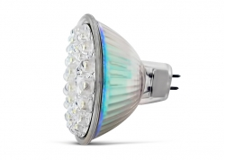 LÁMPARA DICROICA DE 30 LEDS BLANCO FRÍO / 12V (MR16)