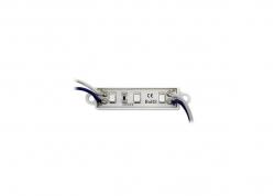 MÓDULO DE 3 LEDS SMD 3528 IMPERMEABLE VERDE 12V 0.3W 1000MCD/LED 45X12MM
