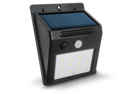 REFLECTOR LED CON PANEL SOLAR Y SENSOR MOVIMIENTO (BLANCO FRIO 2.4W)