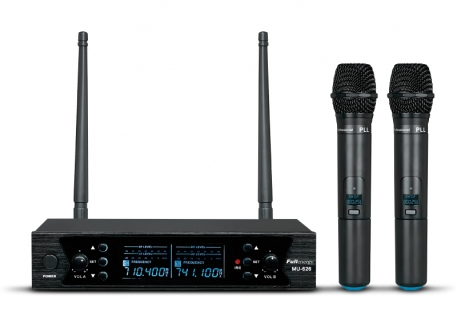MICROFÓNO INALÁMBRICO UHF DOBLE CON DISPLAY (PRO)