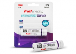 BATERÍA RECARGABLE DE LITIO 18650 3.7V 3000MAH FULLENERGY