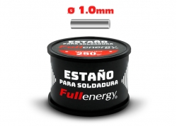 ESTAÑO 60/40 1.0MM X 1/4KG EN CARRETE FULLENERGY