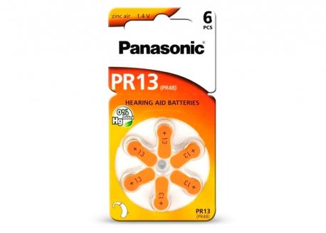 PILA PANASONIC PR-13 (PR-48) AUDIOLOGÍA EN BLISTER X6 (PRECIO X UNIDAD)