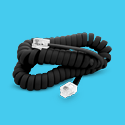 Cables prolongación telefónica espiralado